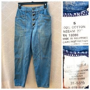 Brittania Button Up Mom Jeans Vintage